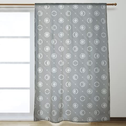 Classic Moon Phases Pattern Room Darkening Curtains - 53 x 84