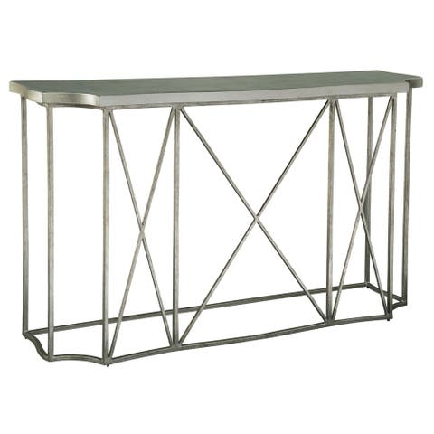 Rectangular Solid Wood and Metal Console Table - Hekman