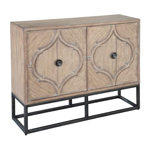 Solid Wood Metal Base Accent Console - Hekman