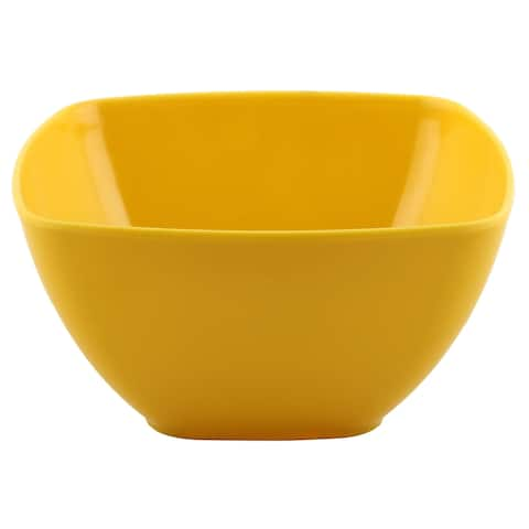 Melange 36-Piece 100% Melamine Square Bowl Set (Squares Solid )