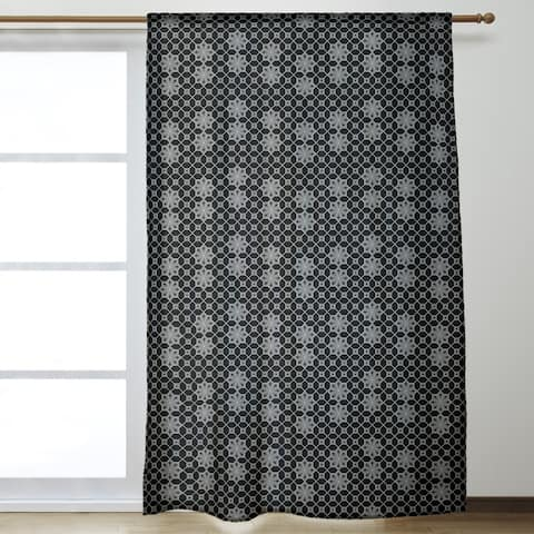 Classic Lattice Room Darkening Curtains - 53 x 84