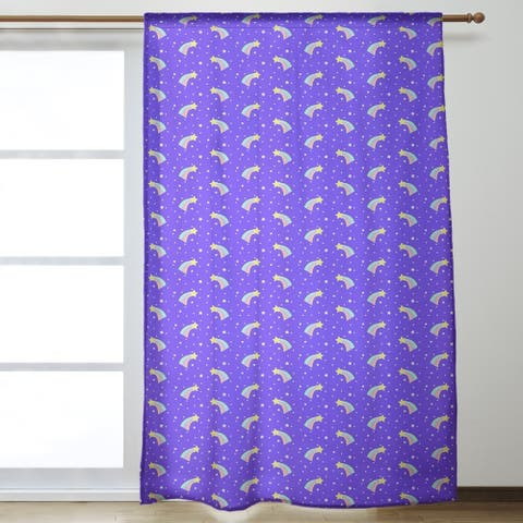 Shooting Stars Pattern Room Darkening Curtains - 53 x 84