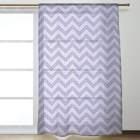 Reverse Classic Hand Drawn Chevrons Sheer Curtains - 53 x 84 - 53 x 84