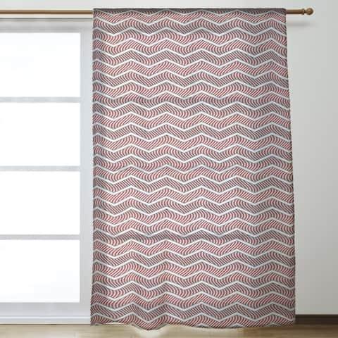 Wavy Chevrons Sheer Curtains - 53 x 84 - 53 x 84