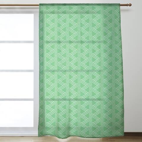 Classic Zig Zag Pattern Sheer Curtains - 53 x 84