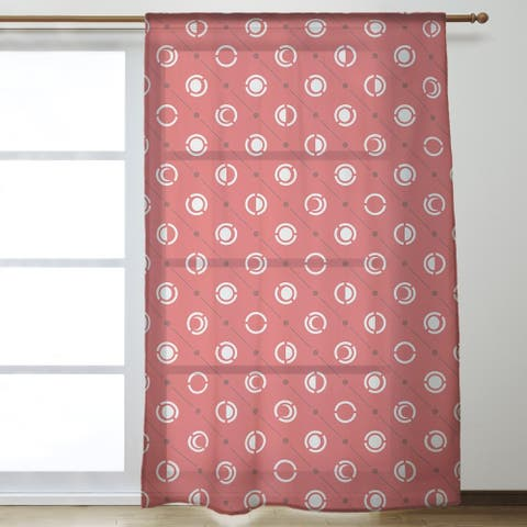 Three Color Moon Phases Pattern Sheer Curtains - 53 x 84 - 53 x 84