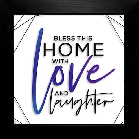 "Bless This Home Suncatcher Plaque Frame 10""x10"""