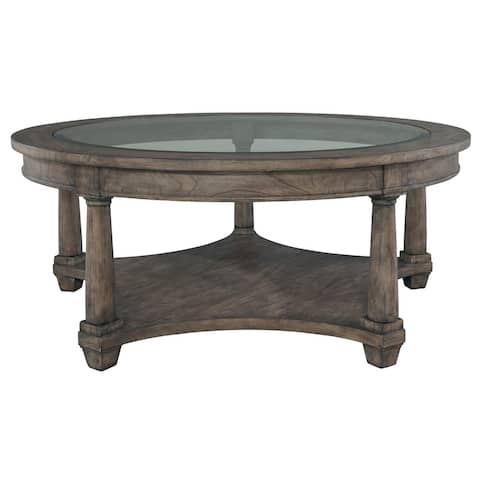 Round Solid Wood Coffee Table - Lincoln Park