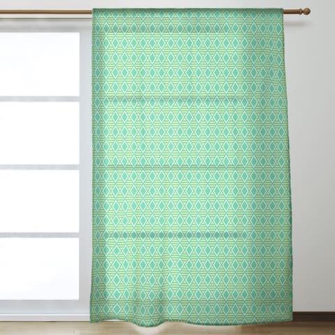 Two Color Geometric Diamonds Sheer Curtains - 53 x 84