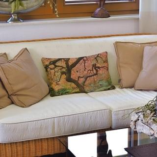 Japanese Maple Tree Lumbar Pillow