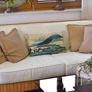 Japanese Cranes Lumbar Pillow