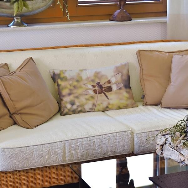 Rustic Dragonfly Lumbar Pillow