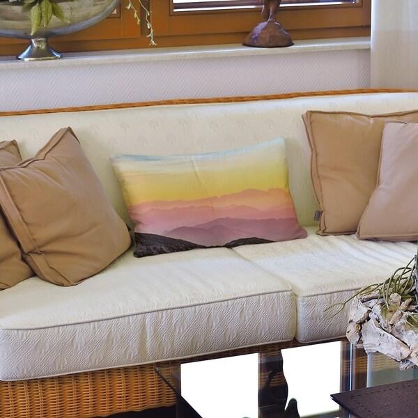 Pastel Landscape Lumbar Pillow