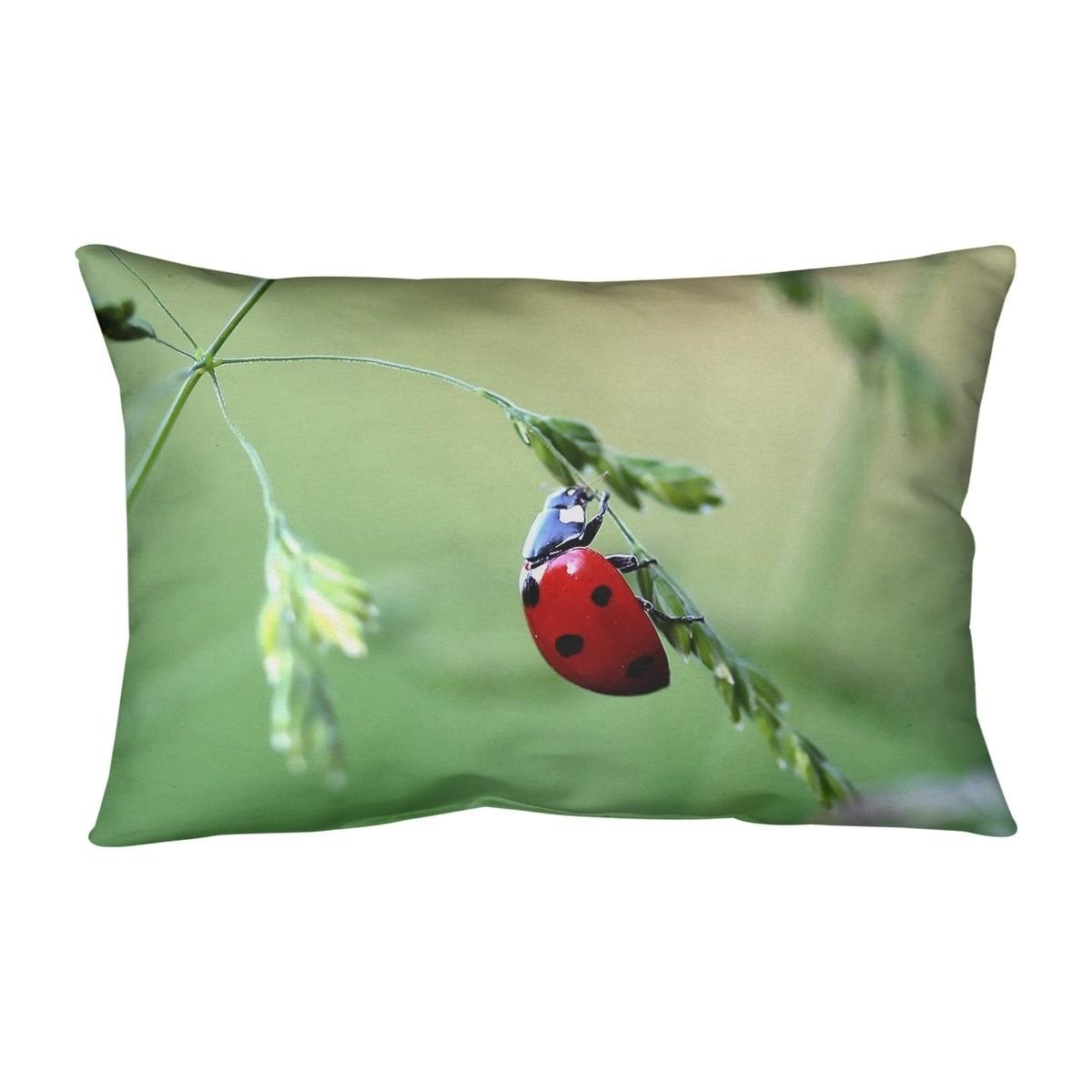 Ladybug Lumbar Pillow On Sale Overstock 28384300