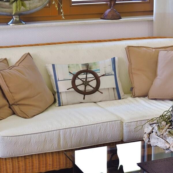Boat Wheel Lumbar Pillow