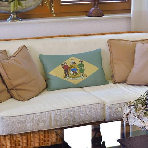 Delaware Flag Lumbar Pillow