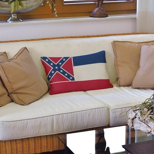 Mississippi Flag Lumbar Pillow