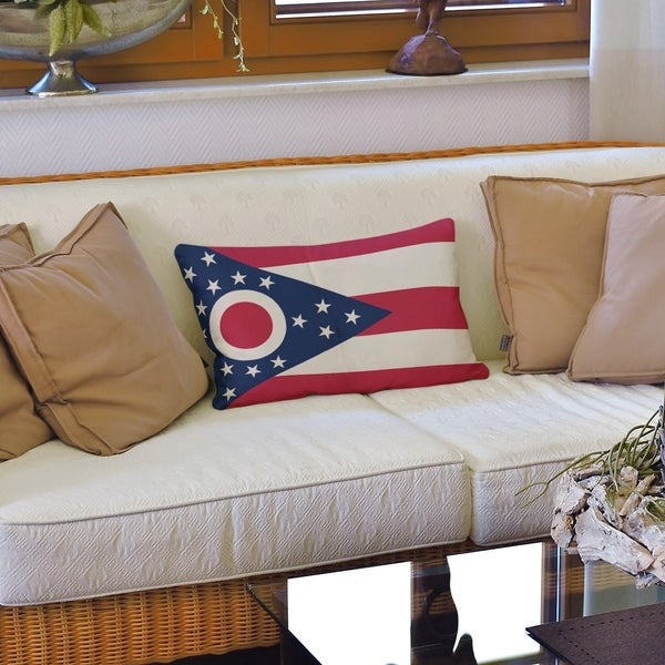 Ohio Flag Lumbar Pillow