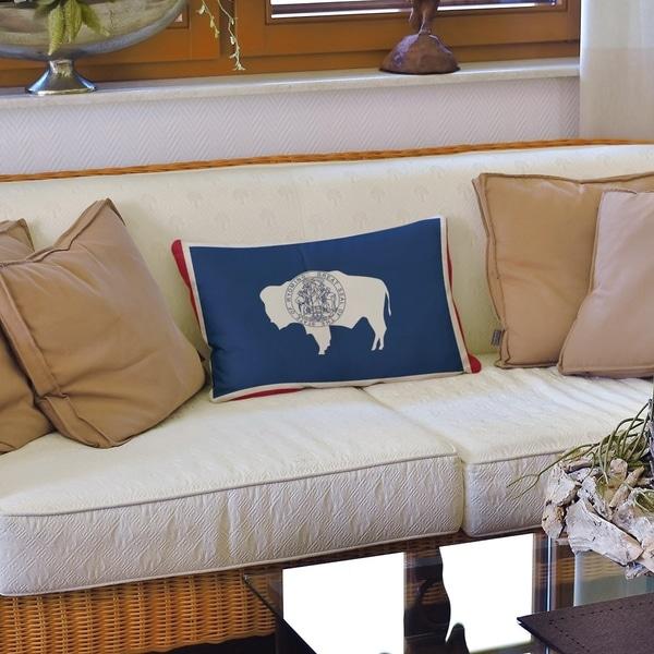 Wyoming Flag Lumbar Pillow