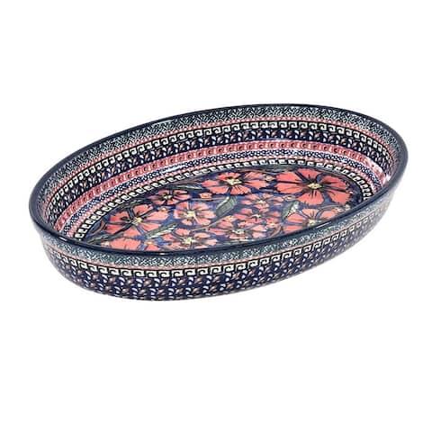 Handmade Oval Baker Stoneware (Poland)