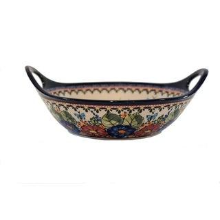 Link to Handmade Polish Stoneware Pottery Med Handled Serving Bowl (Poland) Similar Items in Serveware