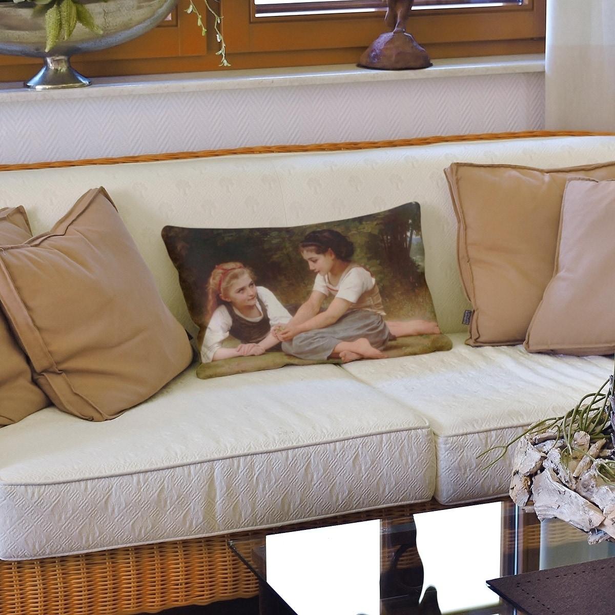 The Nut Gatherers Lumbar Pillow On Sale Overstock 28384674