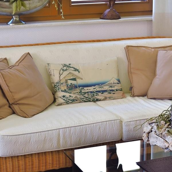 Tea House at Koishikawa Lumbar Pillow