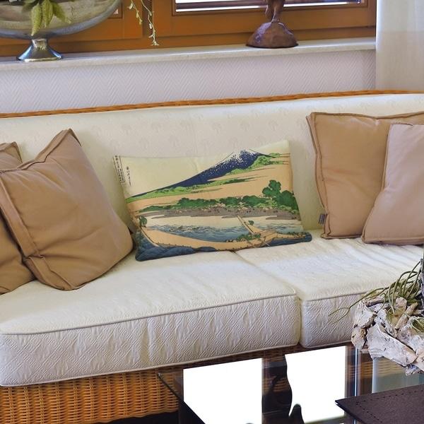 Shore of Tago Bay Lumbar Pillow