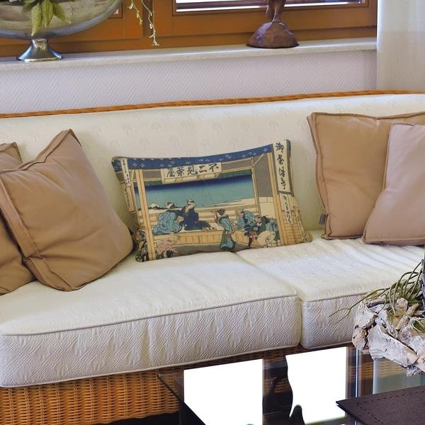 Yoshida at Tokaido Lumbar Pillow