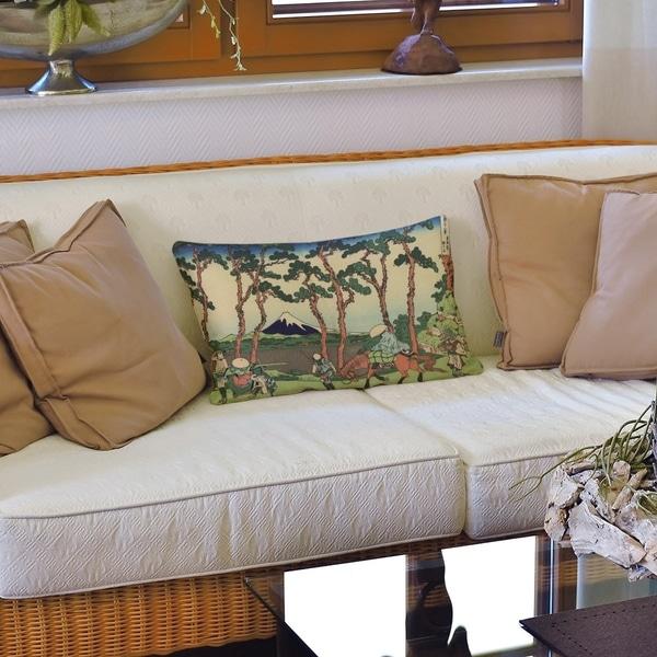Hodogaya on the Tokaido Lumbar Pillow