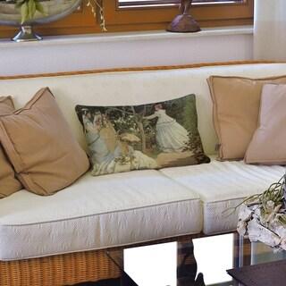 Women in the Garden Lumbar Pillow
