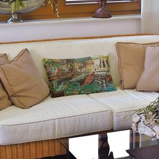 Bathers at La Grenouillere Lumbar Pillow