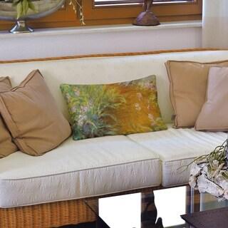 Path Through the Irises Lumbar Pillow