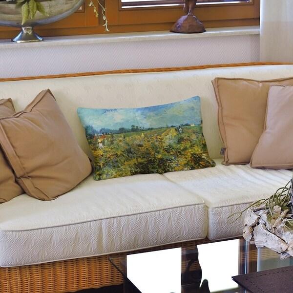 The Green Vineyard Lumbar Pillow
