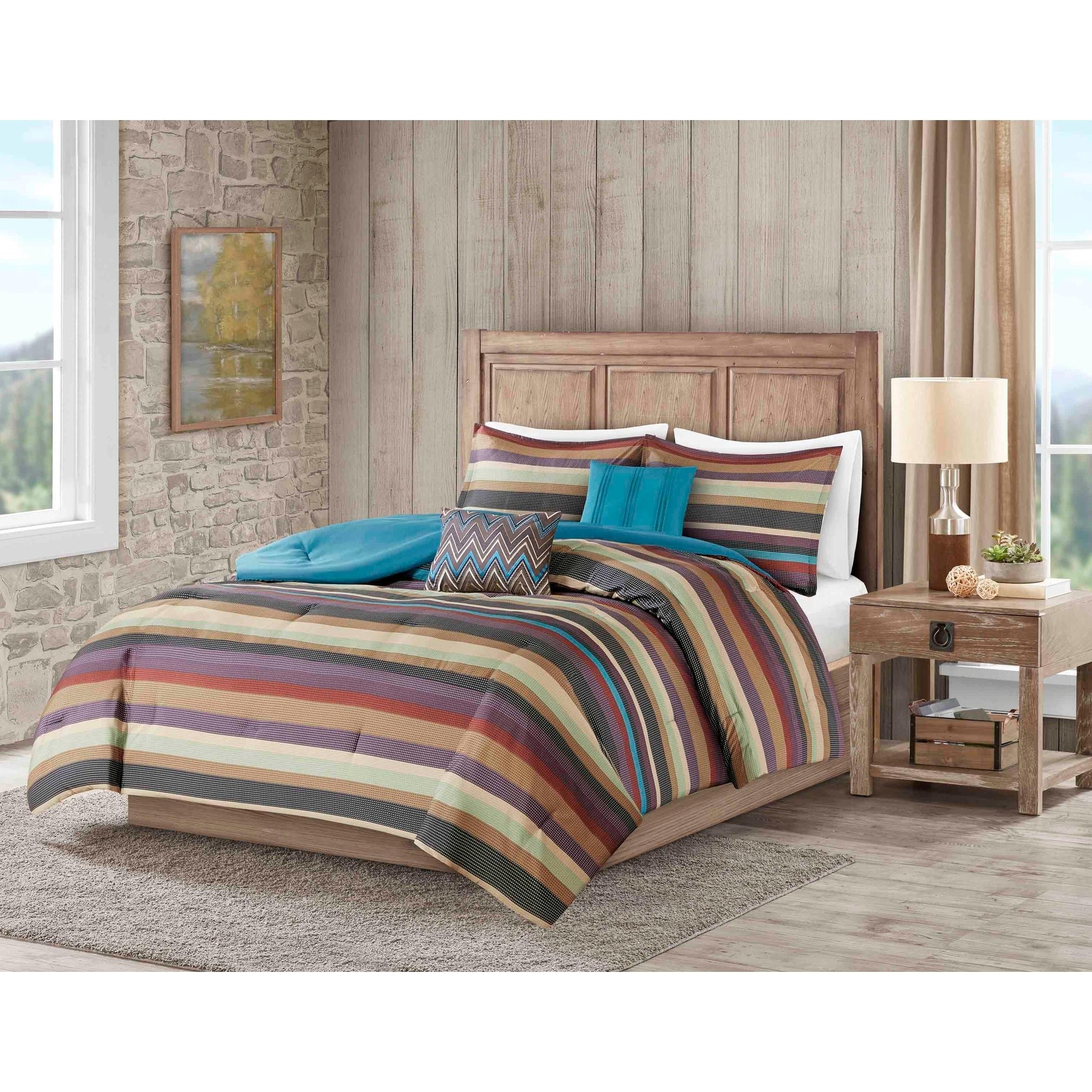 Carbon Loft 5 Piece Striped Bohemian Comforter Set On Sale Overstock 28384748 King