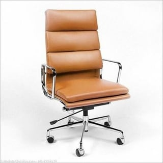 Tan Highback Office chair Double Padded
