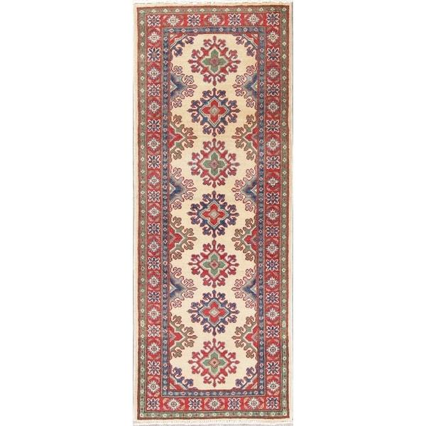"Kazak Oriental Hand Knotted Wool Pakistani Rug - 5'11"" x 2'3"" Runner"