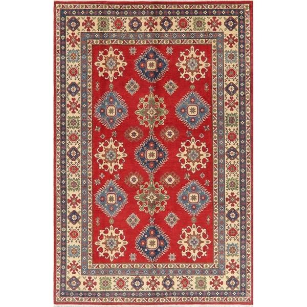 "Kazak Oriental Hand Knotted Wool Pakistani Area Rug - 9'3"" x 6'2"""