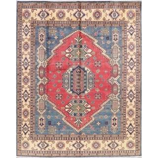 "Kazak Oriental Hand Knotted Wool Pakistani Area Rug - 10'0"" x 7'11"""