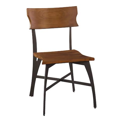 Solid Wood Live-edge Dining Side Chair - Office at Home