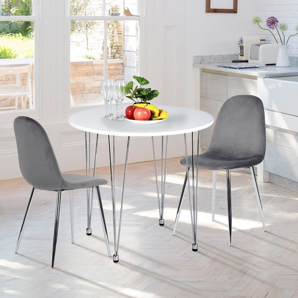 Porch Den Delamere High Gloss White Round Wood Dining Table Overstock 28386338