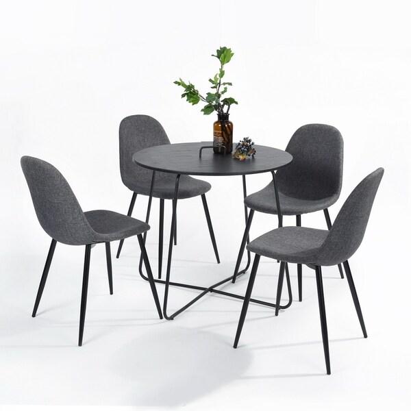 Kitchen Tables Black: Shop FunitureR Modern Kitchen Dining Table Round Wood