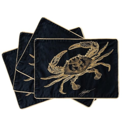 Golden Sea Creature Placemat, (Set of 4) - 14*19