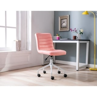 Link to Porthos Home Cara Armless Swivel Office Chair, PU Leather Upholstery Similar Items in Home Office Furniture