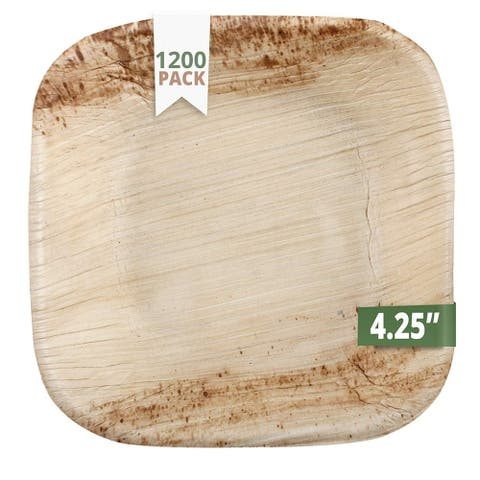 "CaterEco 4.25"" Square Areca Bowl Set (1200 Pieces Pack)"