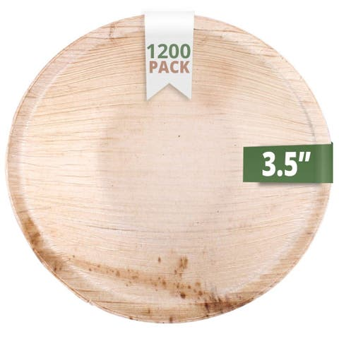 CaterEco 3.5-inch Round Areca Bowl Set (1200 Pieces Pack)