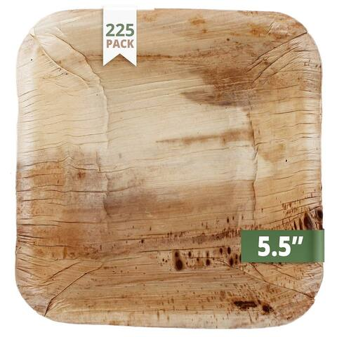"""CaterEco 5.5"""" Deep Areca Bowl Set (225 Pieces Pack)"""
