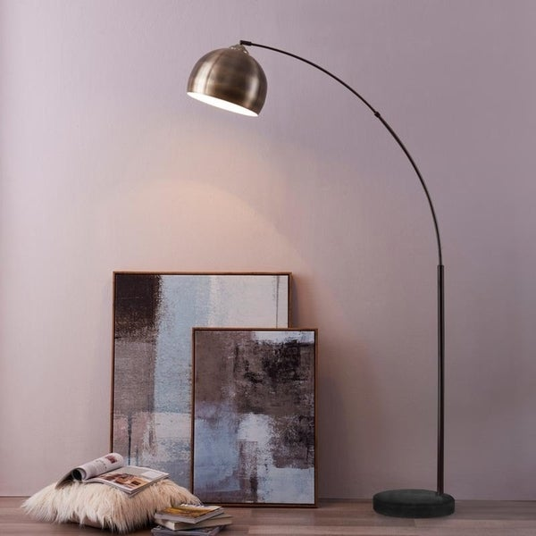 Shop Versanora Arquer Arc Floor Lamp With Antique Brass
