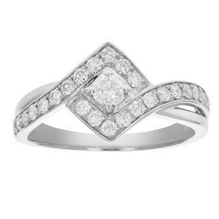 2 3 Cttw Diamond Engagement Ring 14K White Gold Size 7