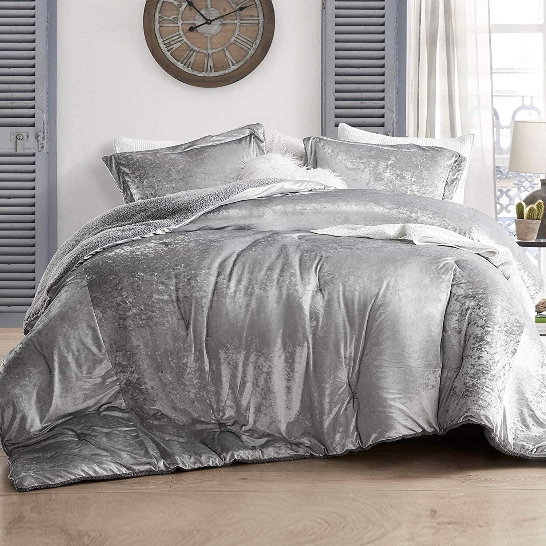 Coma Inducer Oversized Comforter Velvet Crush Champagne Alloy On Sale Overstock 28386845